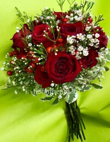 bouquet rose compatte
